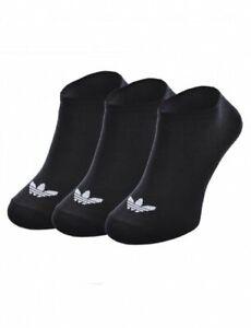 Adidas Originals Trefoil Shoe Liner Trainer Socks 3 Pairs UK 5.5 - 8