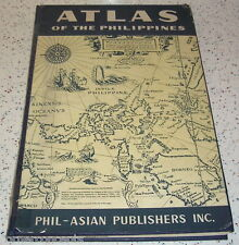Atlas Of The Philippines 1959 Phil-Asian Publishers over 50 Color Maps