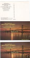 3 OLD POSTCARDS SAN FRANCISCO ANTIQUE SHOW..1979