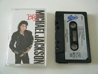 MICHAEL JACKSON BAD CASSETTE TAPE 1987 PAPER LABEL EPIC CBS UK