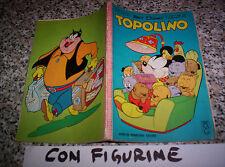 TOPOLINO LIBRETTO N.375 ORIGINALE MONDADORI DISNEY 1963 CON BOLLINO e FIGURINE