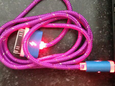 FLASH BRAIDED LED light USB data sync charger cable FOR apple iphone 4S & nano 6