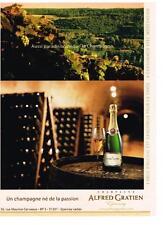 PUBLICITE  2008   ALFRED GRATIEN   champagne
