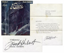 Frank Herbert Dune 1965 First & Signed Letter Sequels