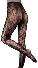 Couture encaje totalmente transparente Calzas Pantimedias Mediano Negro