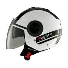 Caberg Riviera V2 Pure Open Face Motorbike Helmet Fog Visor White Black XS