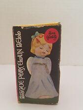 Vintage 1979 Bisque Porcelain Holiday Christmas Angel Bell  in Original Box