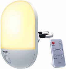 Luce Notturna, Lampada da Presa con Telecomando, Funzione Timer, 3 Luminosità