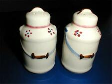 Shawnee Pottery MILK CANS Salt Pepper Shakers EXC