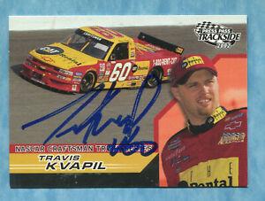 SIGNED 2002 Press Pass Trackside #48 Travis Kvapil -Autographed Card NASCAR Auto
