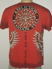 Affliction Signature Series Brandon Vera UFC MMA Distressed Graphic TShirt Men L