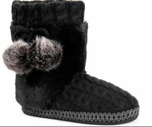 NWT Muk Luks Women's Coralee Boot Slippers 7-8 MEDIUM