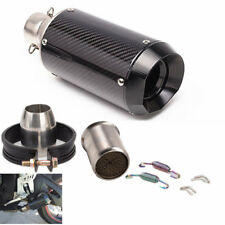 51mm Universal Motorrad Kohlefaser Auspuffrohr Schalldämpfer Auspufftöpfe Klemme