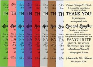 Personalised Wedding Guest Thank You Favour Card Scrolls Favor