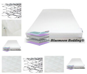 Sprung Cot Bed Mattress (70 cm X 140 cm) Breathable Spring Baby Bed Mattress