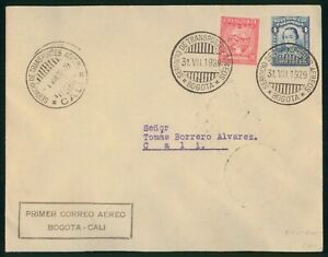Mayfairstamps Colombia 1929 Bogota To Cali Airmail Cover wwp79699