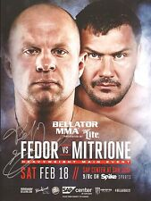 Fedor Emelianenko Signed Bellator 172 MMA Event Program BAS COA vs Matt Mitrione