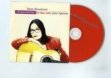 NANA MOUSKOURI CD SINGLE PROMO SE QUE VOLVERAS (DUO AVEC JULIO IGLESIAS)