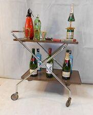 RETRO HOLLYWOOD SILVER DRINKS TROLLEY VINTAGE TROLLEY DOLLY COCKTAIL BAR