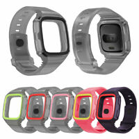 FP- Fitbit Versa Strap Replacement Stylish Wrist Band Dual Color Silicone Watchb