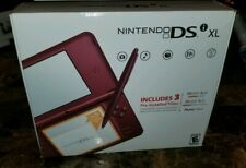 Nintendo DSi XL Burgundy Handheld System Complete in Box w/ Cover