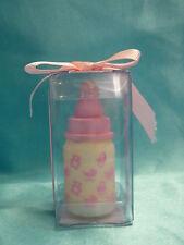BABY Shower latte BOTTIGLIA CANDELA COMPLEANNO CANDELA TORTA TOPPER figura personaggio ROSA