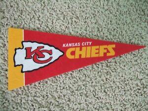 "NEW Kansas City Chiefs Football Pennant Mini 9"" Souvenir Felt Flag Super Bowl"