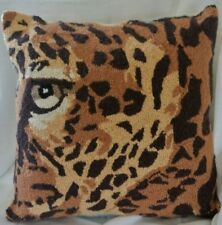 Peking Handicrafts Leopard Eye Pillow Large 18 x 18 Pillow Hook Zip Cover