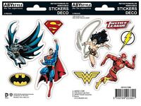 Justice League (2 sheets) set of vinyl stickers 160mm x 110mm (aby)