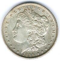 USA Morgen Dollar 1896 26,63g 900er Silber, KM#110, ss/vz
