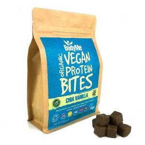 BodyMe Organic Vegan Protein Bites   Raw Chia Vanilla   500g   100 Bites
