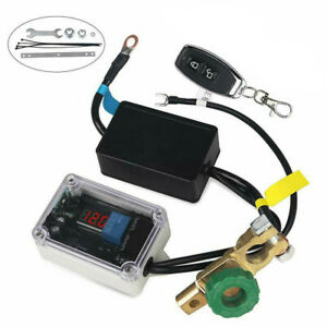 12V Car Battery Isolator Disconnect Cut Off Power Kill Switch +Wireless Remote