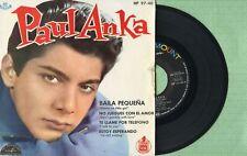 PAUL ANKA / Dance On Little Girl / HISPAVOX HP 97-40 Spain 1961 EP 45 rpm EX