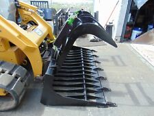 New 72 Heavy Duty Rock Root Tooth Grapple Universal Skid Steer Attachment