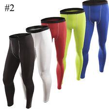 Mens Compression Shorts Sport GYM Base Layer Thermal Skins Under Gear Long Pants