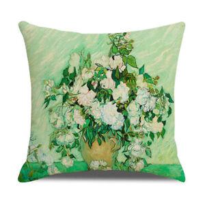 """18x18"""" Cushion COVER Van Gogh Da Vinci Painting Decorative Throw Pillow Case"""
