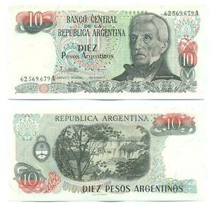 ARGENTINA NOTE 10 PESOS (1984) LOPEZ-G.VAZQUEZ B# 2614 SUFFIX A P 313 UNC