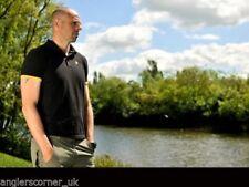 Camisas y camisetas de pesca de manga corta negro