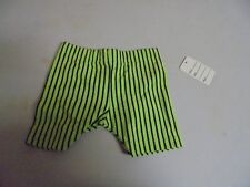 Vintage Girls Lime Green With Black Stripes Shorts size 24 Months