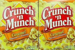 2Pk Crunch 'n Munch Caramel Popcorn with Peanuts ~* FAST FREE SHIPPING ! *~