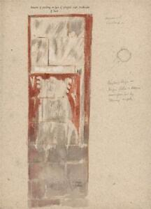 ST. DAVIDS WALL PAINTING STUDY Watercolour Painting H CLARENCE WHAITE c1930