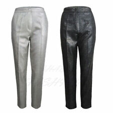 Straight Leg Low Rise Tailored Trousers for Women