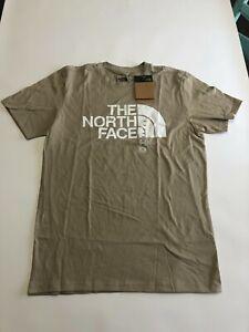 Mens The North Face Short Sleeve Halfdome T-Shirt Flax Medium (0155)