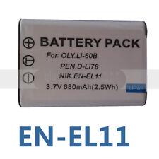 2x Battery for Pentax D-L178 Optio W60 M50 V20 EN-EL11