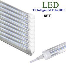 8FT LED T8 Integrated Tube Light Bulbs Fixtures Bright White 6000K 40Watt 10pk