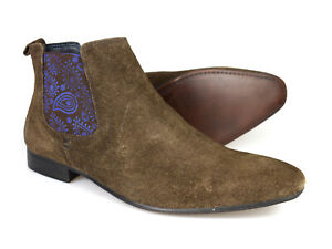 Silver Street Carnaby Brown Suede Mens Chelsea Boots RRP £70 Free UK P&P!