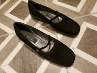 Stuart Weitzman Women's Shoes Size 9.5 Black Casual Mary Jane Suede Low Comfort