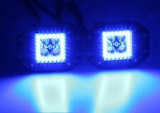 """3x3"""" Dually FLUSH MOUNT Pod Cube LED Light Color Change RGB Halo Rings with pods"""