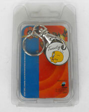 Warner Bros TWEETY metal keychain CART COIN Mint in blister 1997 Netherlands