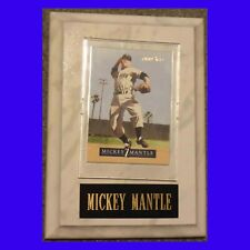 Mickey Mantle  Plaque w/ 1992 Pinnacle Card  300th WIN  Texas Rangers